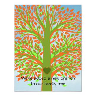 "Adoption Tree 4.25"" X 5.5"" Invitation Card"