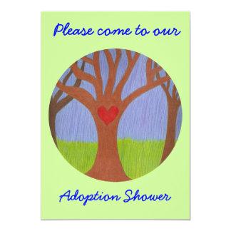 "Adoption Tree Shower invitation 5"" X 7"" Invitation Card"