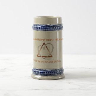 Adoption Triangle Beer Stein