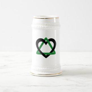 Adoption Triangle Black Green Beer Stein