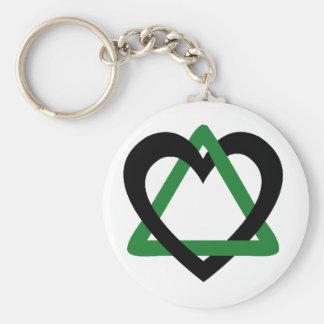 Adoption Triangle Black Green Key Chain