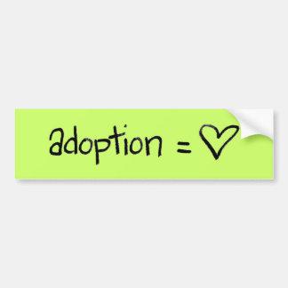 adoptionequalslove etiqueta de parachoque