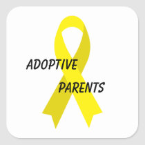 Adoptive Parents Yellow Ribbon by Janz Square Sticker