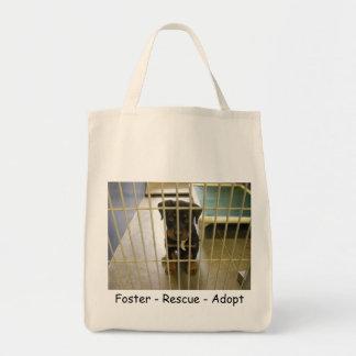 Adoptivo - rescate - adopte el bolso orgánico bolsa tela para la compra