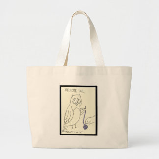 . . . Adopts a Cat Jumbo Tote Bag