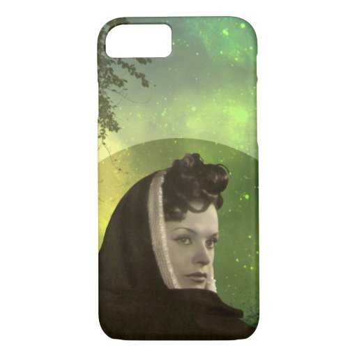 ADORA: 1940s FASHION in CHARTREUSE and OLIVE iPhone 8/7 Case