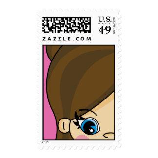 Adorabe Little Girl Stamp