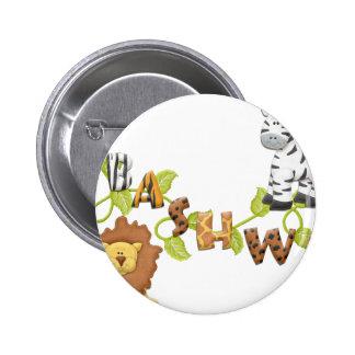 Adorable Abashwe Animals Pinback Button