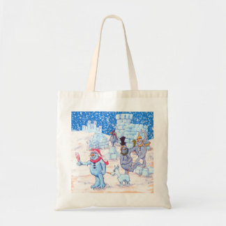 Adorable Abominable Snowmen Budget Tote Bag