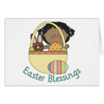 Adorable African American Easter Kids Cards