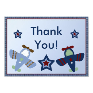 Adorable Airplanes/Aviator Thank You Card