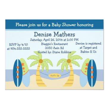 "Toddler & Baby themed Adorable ""Aloha Beach Baby"" Baby Shower Invitation"