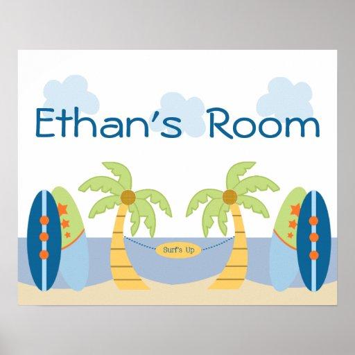 Adorable Aloha Beach Baby Blue Boy Poster/Print Poster