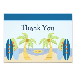 "Adorable ""Aloha Beach Baby""  Shower Thank You Card"