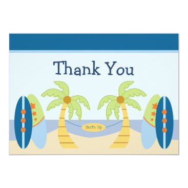 "Toddler & Baby themed Adorable ""Aloha Beach Baby""  Shower Thank You Card"