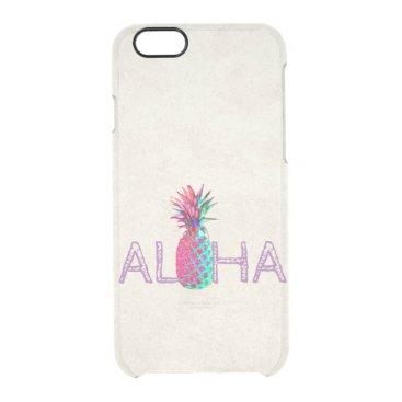 Beach Themed Adorable Aloha Hawaiian Pineapple Clear iPhone 6/6S Case