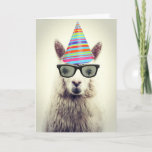 Adorable Alpaca, Birthday Card