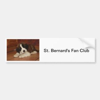 Adorable and Sweet St. Bernard Puppy Car Bumper Sticker