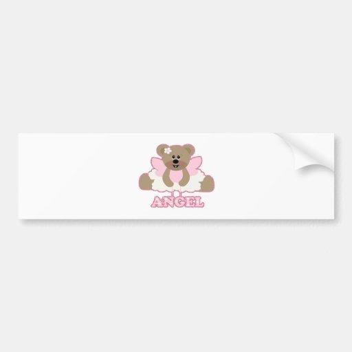 adorable angel fairy bear character car bumper sticker
