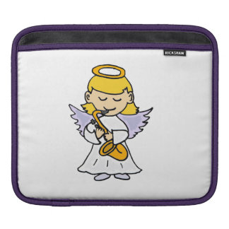 Adorable Angel Playing Saxophone Sleeves For iPads