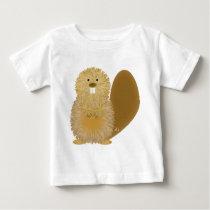 Adorable Animal Drawings: Beaver Baby T-Shirt