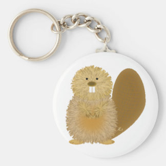 Adorable Animal Drawings: Beaver Basic Round Button Keychain