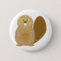 Adorable Animal Drawings: Beaver Button