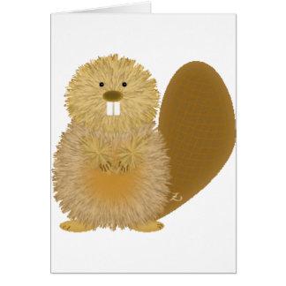 Adorable Animal Drawings: Beaver Greeting Card