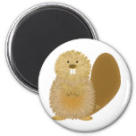 Adorable Animal Drawings: Beaver 2 Inch Round Magnet