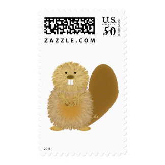 Adorable Animal Drawings: Beaver Postage