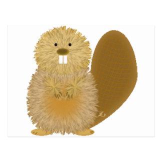 Adorable Animal Drawings: Beaver Postcards