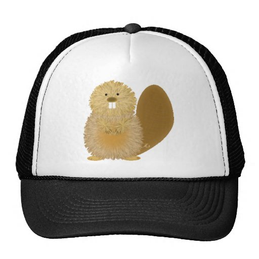 Adorable Animal Drawings: Beaver Trucker Hat
