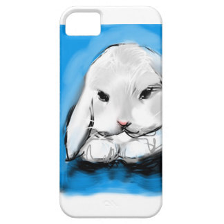 adorable artwork bunny on and I phone case
