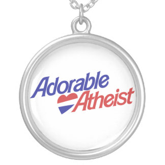 Adorable Atheist Silver Plated Necklace