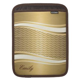 Adorable attracutve Golden luxury trendy chevron Sleeve For iPads
