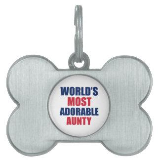 Adorable Aunty Pet Tag