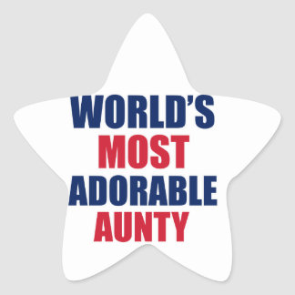 Adorable Aunty Star Sticker