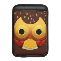 Adorable Autumn Owl iPad Mini Sleeve