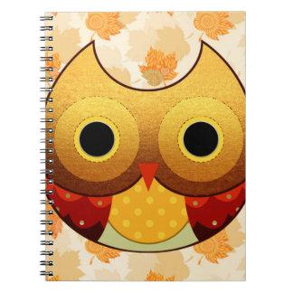 Adorable Autumn Owl Notebook