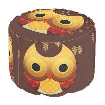 Adorable Autumn Owl Pouf