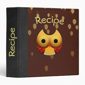 Adorable Autumn Owl Recipe/Photo Binder