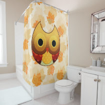 Adorable Autumn Owl Shower Curtain