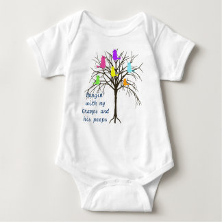 Adorable baby birds - Hangin' with my Gramps Baby Bodysuit