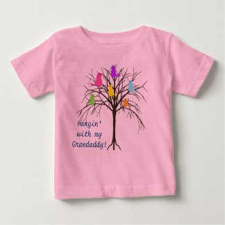 Adorable baby birds - Hangin' with my Grandaddy Baby T-Shirt
