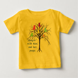 Adorable baby birds - Hangin' with my Mimi Baby T-Shirt