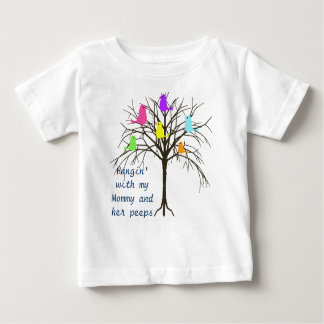 Adorable baby birds - Hangin' with my Mommy Baby T-Shirt