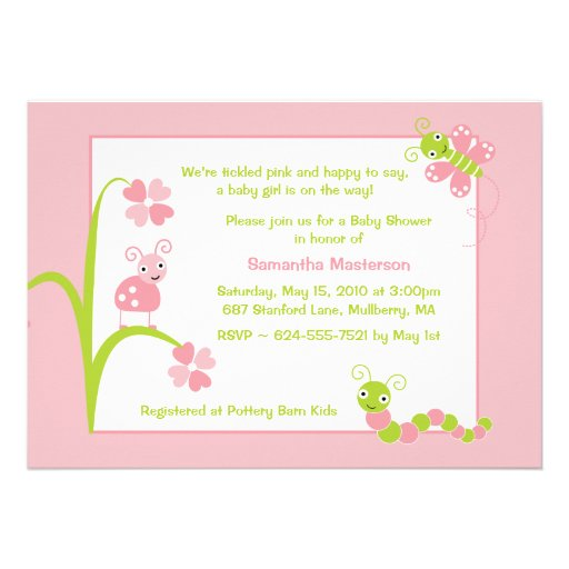 Adorable Baby Bugs Baby Shower Invitation