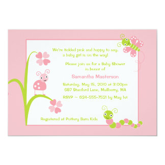 "Adorable Baby Bugs Baby Shower Invitation 5"" X 7"" Invitation Card"