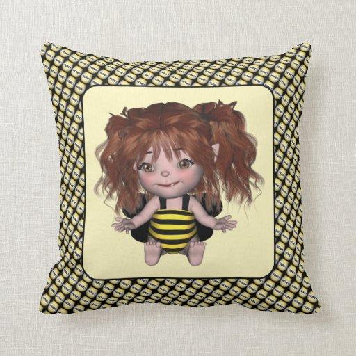 Adorable Baby Bumble Bee Fairy Sally Pillow