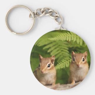Adorable Baby Chipmunk Siblings Keychain